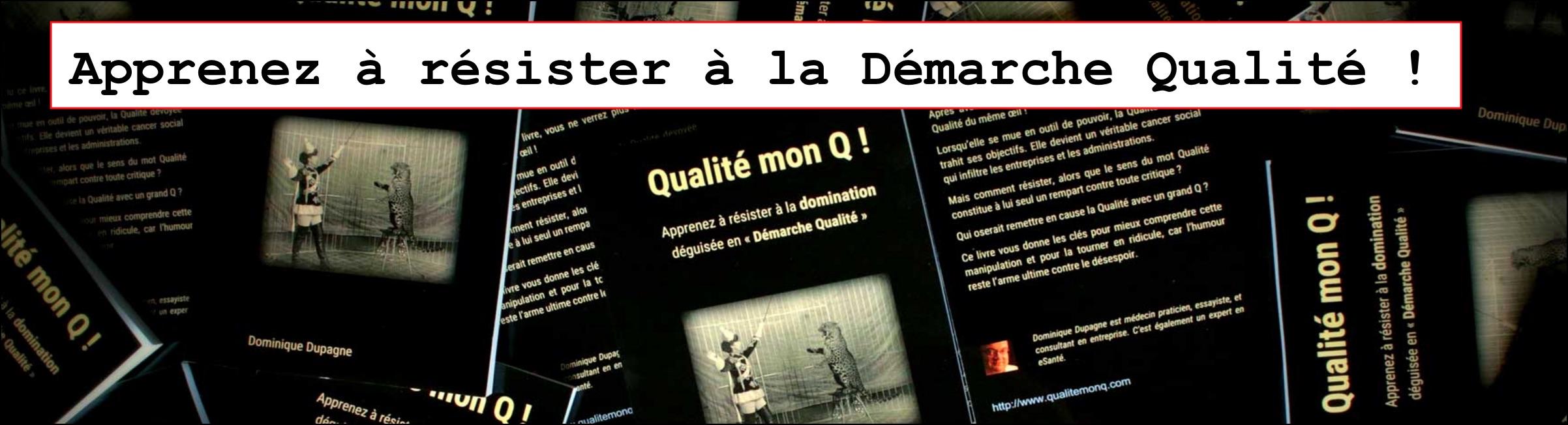 Qualité mon Q !, nouveau livre sur la démarche Qualité et la Qualité totale...