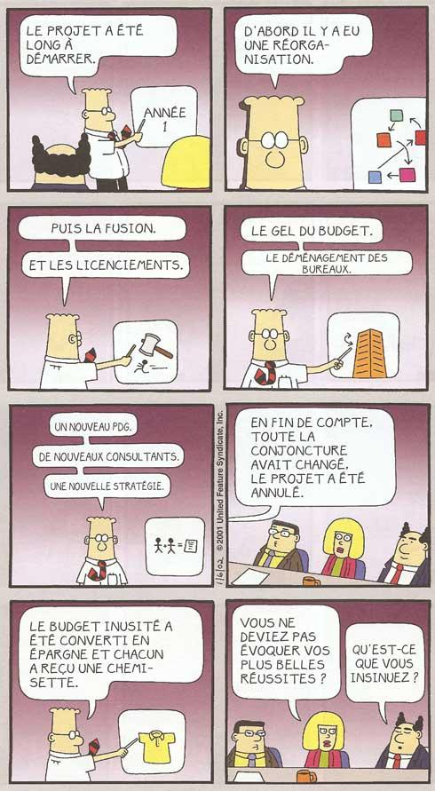 """Dilbert par Scott Adams - """"Dis-le avec ton corps"""". Dargaud Ed"""